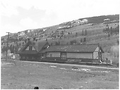 East side view of the RGS Rico depot post-abandonment.<br /> RGS  Rico, CO  Taken by Chione, A. G. - 5/1952