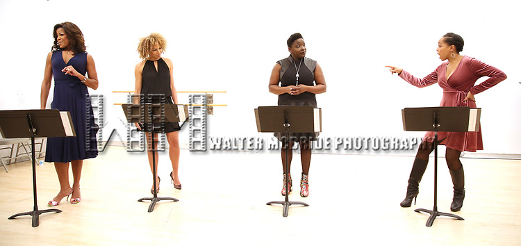 """Nicole Henry, Lana Gordon, Darlene Hope and Dionne Figgins During the Open Rehearsal for the Miami New Drama's World Premiere Musical  """"A Wonderful World"""" at the Ripley-Grier Studios on January 26, 2020 in New York City."""