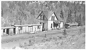 View of RGS section house and depot at Vance Junction.  The structures show much wear and tear.  Dorman's book puts the year at 1946.<br /> RGS  Vance Junction, CO  1951