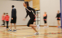 29.08.2016 Silver Ferns Ameliaranne Ekenasio train and have a weights workout in Hamilton. Mandatory Photo Credit ©Michael Bradley.