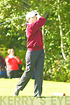Coleen Coffey Dunloe tees off at the Nines Kerry final in Castlerosse Golf Course on Saturday   Copyright Kerry's Eye 2008