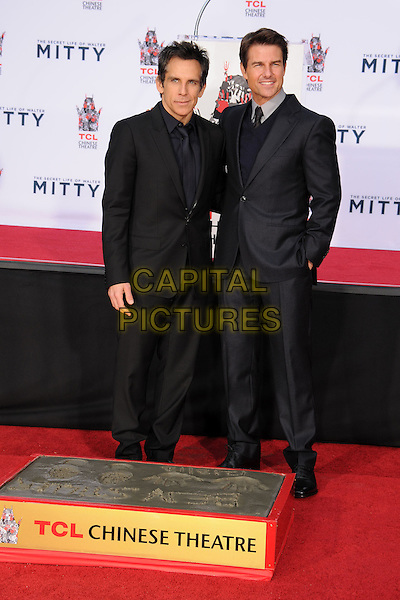 LOS ANGELES, CA - DECEMBER 03: Ben Stiller, Tom Cruise at Ben Stiller's hand and footprint ceremony at the TCL Chinese Theatre on December 3, 2013 in Los Angeles, California.<br /> CAP/ADM/BP<br /> &copy;Byron Purvis/AdMedia/Capital Pictures