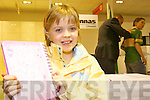 Hero: Shauna Walsh, Ballylongford after meeting her football hero Kieran .Donaghy on Saturday afternoon, where he officially opened the new McKenna's .showroom in their Listowel store..   Copyright Kerry's Eye 2008