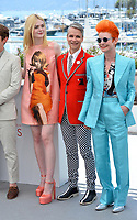 Alex Sharp, Elle Fanning, John Cameron Mitchell &amp; Sandy Powell at the photocall for &quot;How To Talk To Girls At Parties&quot; at the 70th Festival de Cannes, Cannes, France. 21 May 2017<br /> Picture: Paul Smith/Featureflash/SilverHub 0208 004 5359 sales@silverhubmedia.com