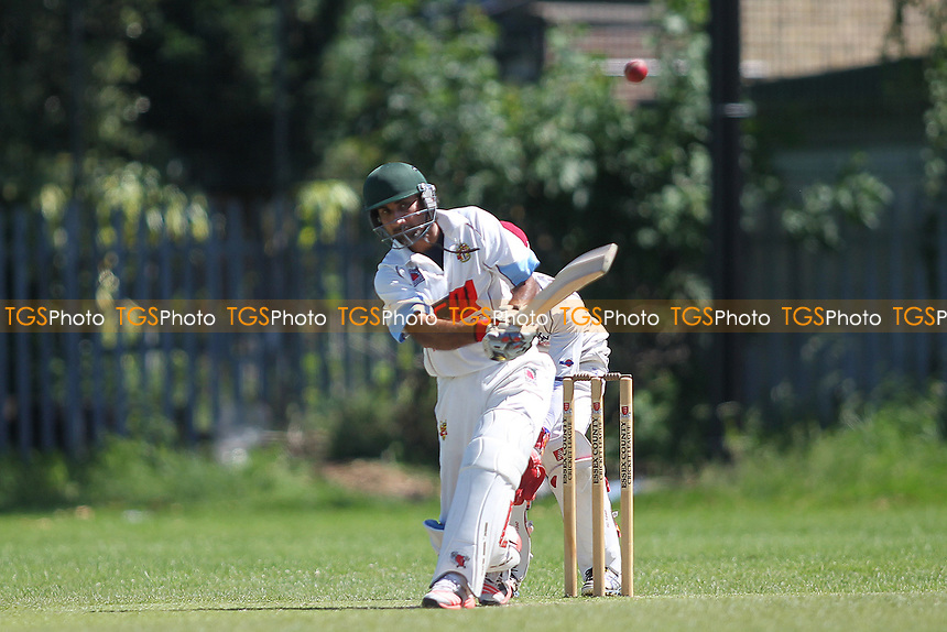 K Iqbal ogf Barking during Newham CC vs Barking CC, Essex County League Cricket at Flanders Playing Fields on 10th June 2017