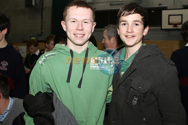 Matthew Moore and Tommy Brady at the Careers Night in St.Josephs School...(Photo credit should read Jenny Matthews www.newsfile.ie)....This Picture has been sent you under the conditions enclosed by:.Newsfile Ltd..The Studio,.Millmount Abbey,.Drogheda,.Co Meath..Ireland..Tel: +353(0)41-9871240.Fax: +353(0)41-9871260.GSM: +353(0)86-2500958.email: pictures@newsfile.ie.www.newsfile.ie.