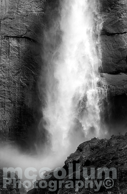 20040407 -- .Michael McCollum.Iconic Yosemite Falls in spectacular Yosemite National Park.