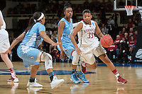 STANFORD, CA - The Stanford Cardinal competes against North Carolina in the Stanford Regional Finals at Maples Pavilion.