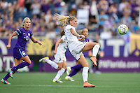 Orlando, FL - Saturday Sept. 24, 2016: Katie Bowen during a regular season National Women's Soccer League (NWSL) match between the Orlando Pride and FC Kansas City at Camping World Stadium.
