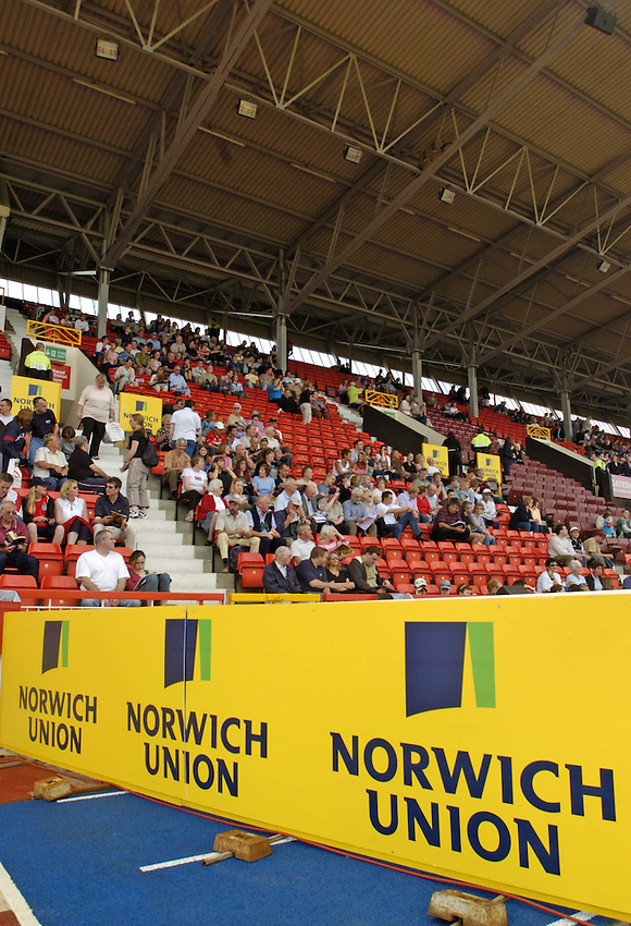 Photo. Jed Wee..Norwich Union British Grand Prix, 27/06/2004..The British Grand Prix, with Norwich Union boards