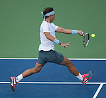 Rafael Nadal (ESP) wins against Richard Gasquet (FRA) 6-4, 7-6, 6-2 at the US Open being played at USTA Billie Jean King National Tennis Center in Flushing, NY on September 7, 2013