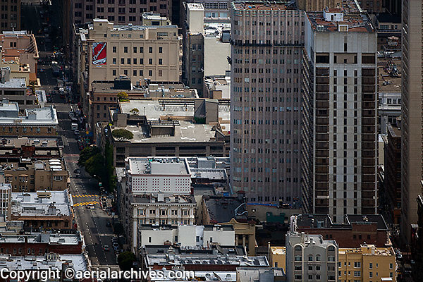 aerial photograph Bush Street San Francisco California