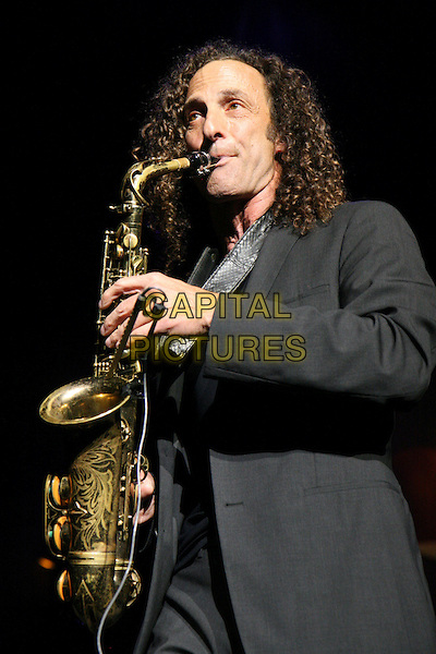 KENNY G (Kenneth Gorelick).Live in concert at the R.A. Hall, Newcastle upon Tyne, Tyne and Wear, England..April 27th, 2009.stage gig performance music black suit saxophone instrument half length.CAP/MAR.© Martin Harris/Capital Pictures.