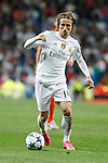 Real Madrid´s Luka Modric during Champions League soccer match between Real Madrid and Shakhtar Donetsk at Santiago Bernabeu stadium in Madrid, Spain. Spetember 15, 2015. (ALTERPHOTOS/Victor Blanco)
