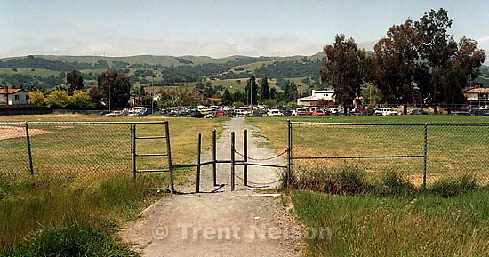 Gate on the path to California High School.<br />