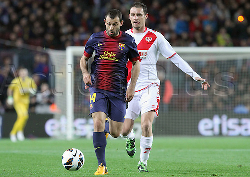 17.03.2013 Barcelona, Spain. La liga game 28. Picture shows Mascherano in action during game between FC Barcelona against Rayo Vallecano at Camp Nou