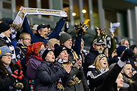 Chester, PA - Friday December 08, 2017: University of Akron fans The Stanford Cardinal defeated the Akron Zips 2-0 during an NCAA Men's College Cup semifinal match at Talen Energy Stadium.