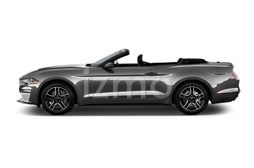 Car driver side profile view of a 2018 Ford Mustang GT Premium 2 Door Convertible