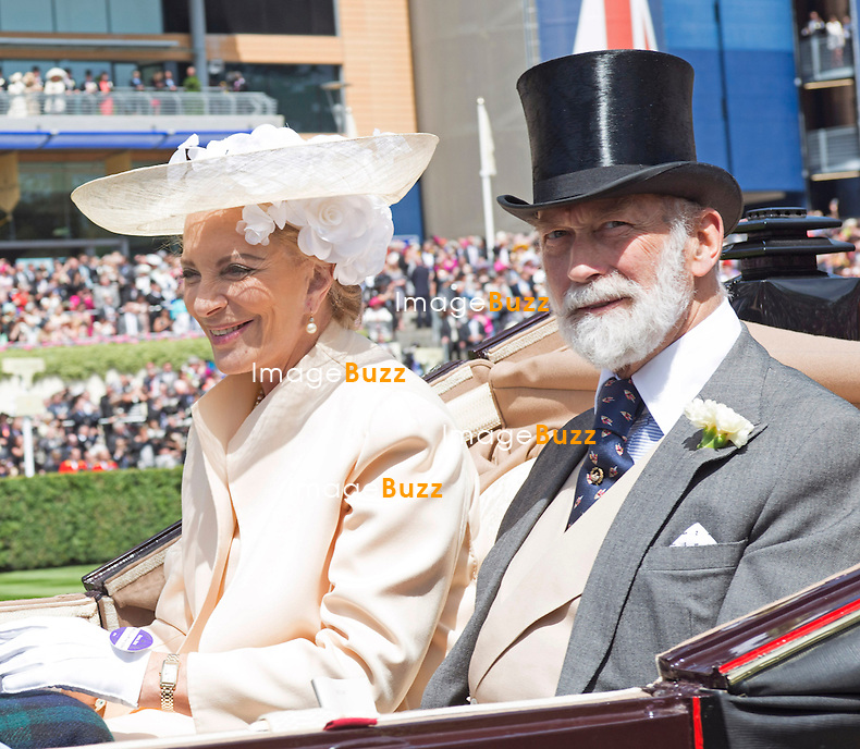 The Queen, Duke of Edinburgh ; Prince Charles, Camilla, Princes Andrew and Harry Prince Harry, Princesses Eugenie and Beatrice and the Michaels of Kent were in attendance on the opening day of the 4-day Royal Ascot Race Meeting.<br /> United Kingdom, Ascot, June 17, 2014.