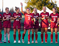 Stanford, California - September 6, 2019: Stanford Field Hockey defeats Michigan 3-2 in a penalty shootout at Varsity Field Hockey Turf  in Stanford, California.