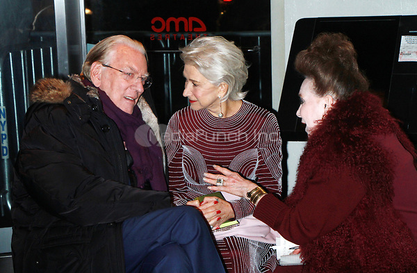 NEW YORK, NY January 11, 2018:Donald Sutherland, Helen Mirren attend Sony Pictures Classics  present screening of The Leisure Seeker  at AMC Loews Lincoln Square  in New York City.January  11, 2018. Credit:RW/MediaPunch