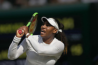 LONDON, ENGLAND - JULY 06: Serena Williams attend day five of the Wimbledon Tennis Championships at the The All England Lawn Tennis Club on July 6, 2018 in London, England<br /> CAP/MPI122<br /> &copy;MPI122/Capital Pictures