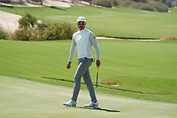 Haotong Li (CHN) on the 17th during the Pro-Am of the Commercial Bank Qatar Masters 2020 at the Education City Golf Club, Doha, Qatar . 04/03/2020<br /> Picture: Golffile   Thos Caffrey<br /> <br /> <br /> All photo usage must carry mandatory copyright credit (© Golffile   Thos Caffrey)