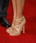 """WESTWOOD, CA. - December 16: Actress Rosaio Dawson's shoes at the Los Angeles premiere of """"Seven Pounds"""" at Mann's Village Theater on December 16, 2008 in Los Angeles, California."""