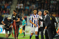 VOETBAL: HEERENVEEN: Abe Lenstra Stadion 29-08-2015, SC Heerenveen - PEC Zwolle, uitslag 1-1, Mitchel Te Vrede en trainer/coach Dwight Lodeweges, ©foto Martin de Jong