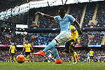 Bacary Sagna of Manchester City in action - Barclay's Premier League - Manchester City vs Aston Villa - Etihad Stadium - Manchester - 05/03/2016 Pic Philip Oldham/SportImage