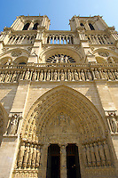 Paris - France - Notre Dame - Front with Sataues and Towers