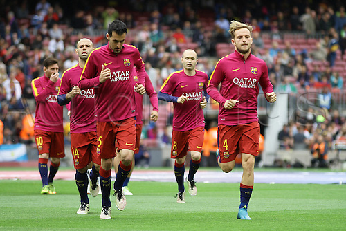 08.05.2016. Nou Camp, Barcelona, Spain. La Liga. FC Barcelona versus RCD Espanyol. Rakitic during the warm up