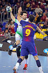 League ASOBAL 2017-2018 - Game: 14.<br /> FC Barcelona Lassa vs Helvetia Anaitasuna: 38-26.<br /> Erik Balenciaga vs Raul Entrerrios.