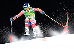 Ted Ligety competes during the FIS Alpine Ski World Cup Men's Parallel Giant Slalom in Alta Badia, on December 21, 2015. Norway's Kjetil Jansrud wins the race, Aksel Lund Svindal second and Sweden's Andre Myrher is third.