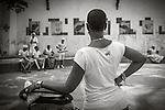 Havana, Cuba: Santeria dancers and watchers