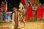 Espetaculo representaçao da Paixão de Cristo em Porangatu. Goias. 2012. Foto de Sergio Amaral.