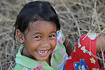 A girl in the village of Dong in northern Cambodia.