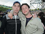 Derek Collins and David Smallwood pictured at the Bon Jovi concert at Slane Castle. Photo:Colin Bell/pressphotos.ie