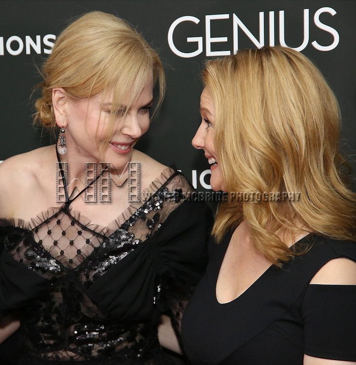 Nicole Kidman and Laura Linney attends 'Genius' New York premiere at Museum of Modern Art on June 5, 2016 in New York City.
