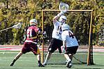 Orange, CA 05/02/10 - Ben Petraglia (Chapman # 44), Matt Sathrum (Chapman # 16) and Kris Saunders (ASU # 21) in action during the Chapman-Arizona State MCLA SLC Division I final at Wilson Field on Chapman University's campus.  Arizona State defeated Chapman 13-12 in overtime.