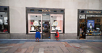 The Tous jewelry store in Rockefeller Center in Midtown Manhattan in New York on Thursday, August 28, 2014. Joyeria Tous SA, the Spanish jeweler is reported to in talks with Morgan Stanley about either seeking an IPO or the sale of a minority stake in the company. The jeweler has over 400 stores around the world and started in 1920. (© Richard B. Levine)