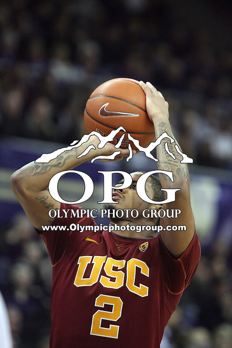 Mar 05, 2011:  USC's #2 Jio Fontan attempts a free throw against Washington.  USC defeated Washington 62-60 at Alaska Airlines Arena Seattle, Washington.