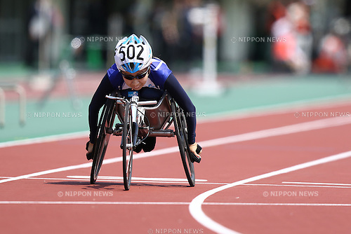 Yuka Kiyama,<br /> APRIL 30, 2016 - Athletics :<br /> Japan Para Athletics Championships<br /> Women's 100m T52 Final<br /> at Coca Cola West Sports Park, Tottori, Japan.<br /> (Photo by Shingo Ito/AFLO SPORT)