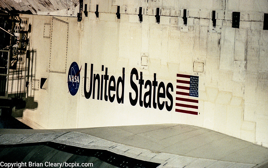 Space Shuttle  Atlantis, STS 106 Mission, September 2000, Kennedy Space Center, Titusville, FL.  Crew:  Commander Terrence W. Wilcutt, Pilot Scott D. Altman, Mission Specialists Daniel C. Burbank, Edward T. Lu, Richard A. Mastracchio, Yuri I. Malenchenko and Boris V. Morokov.  (Photo by Brian Cleary/bcpix.com)