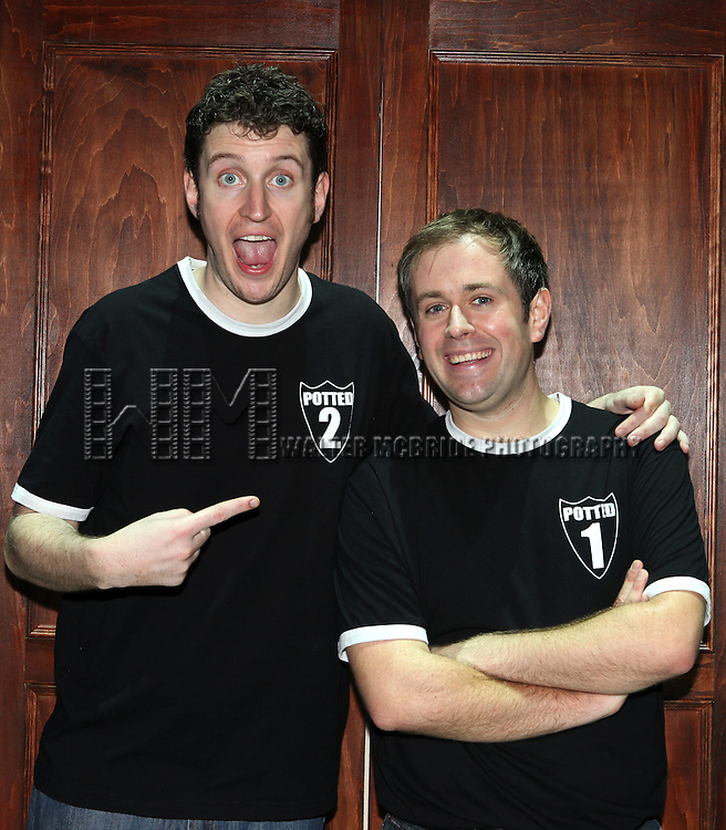 Daniel Clarkson & Jefferson Turner on Opening Night for 'Potted Potter' at the Little Shubert Theatrenin New York City, NY on June 3, 2012. ***Exclusive Coverage***