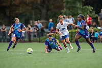 Allston, MA - Sunday July 31, 2016: Maddy Evans, Samantha Witteman, Angela Salem, Jamia Fields during a regular season National Women's Soccer League (NWSL) match between the Boston Breakers and the Orlando Pride at Jordan Field.