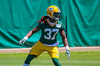 Green Bay Packers safety Aaron Taylor (37) during an OTA on June 1, 2017 at Clark Hinkle Field in Green Bay, Wisconsin. (Brad Krause/Krause Sports Photography)