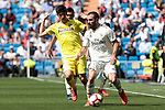 Real Madrid's Dani Carvajal and Villarreal CF's Gerard during La Liga match between Real Madrid and Villarreal CF at Santiago Bernabeu Stadium in Madrid, Spain. May 05, 2019. (ALTERPHOTOS/A. Perez Meca)