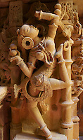 sculpture of a female dancer  in Jain temple, Fort Jaisalmer, Rajastan, India