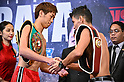 Boxing: official weigh-in for the WBO Asia Pacific Super Featherweight title bout
